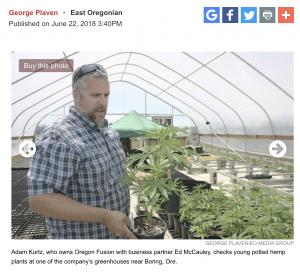 oregon fusion cbd hemp farming news